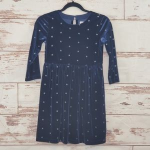 Velvet Dress Blue Gap Kids Star L